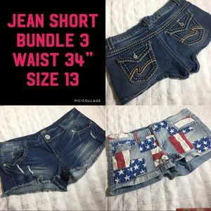 "Short bundle stretch jean 13 34"" Waist Low rise"